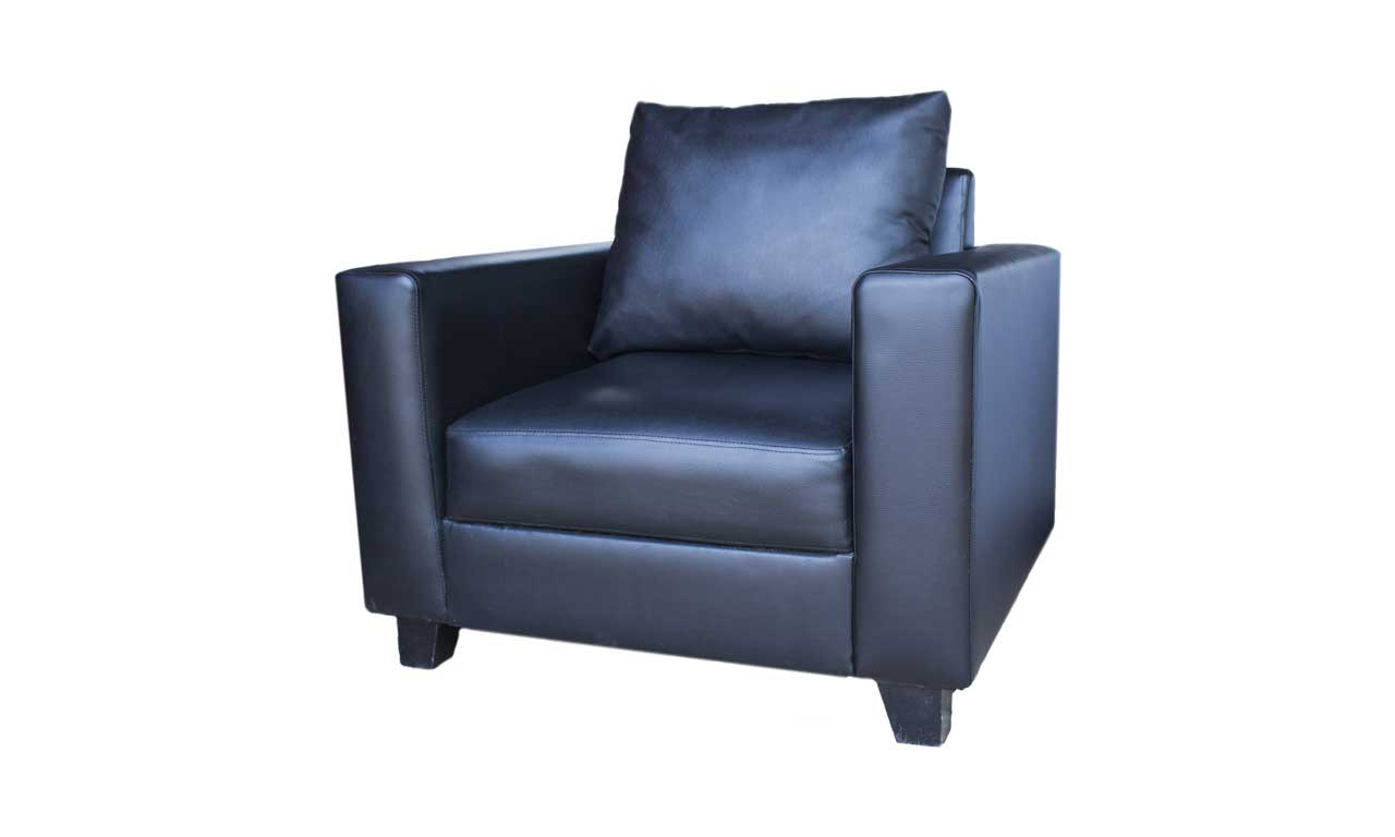 Sofa VIP 1 Single (hitam/putih)