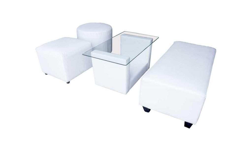 sofa puff dengan U table