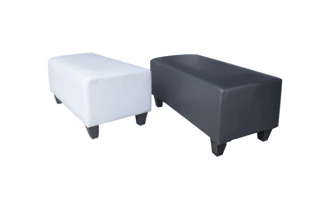 Sofa Puff Bench (hitam/putih)