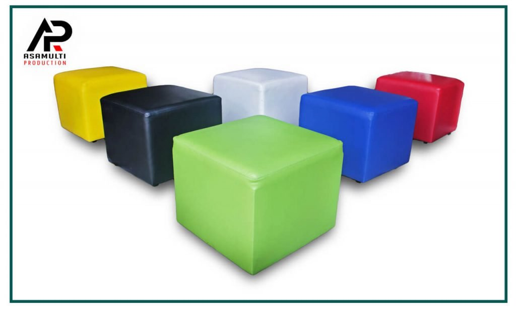 sofa puff warna warni