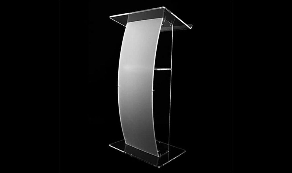 sewa podium acrylic