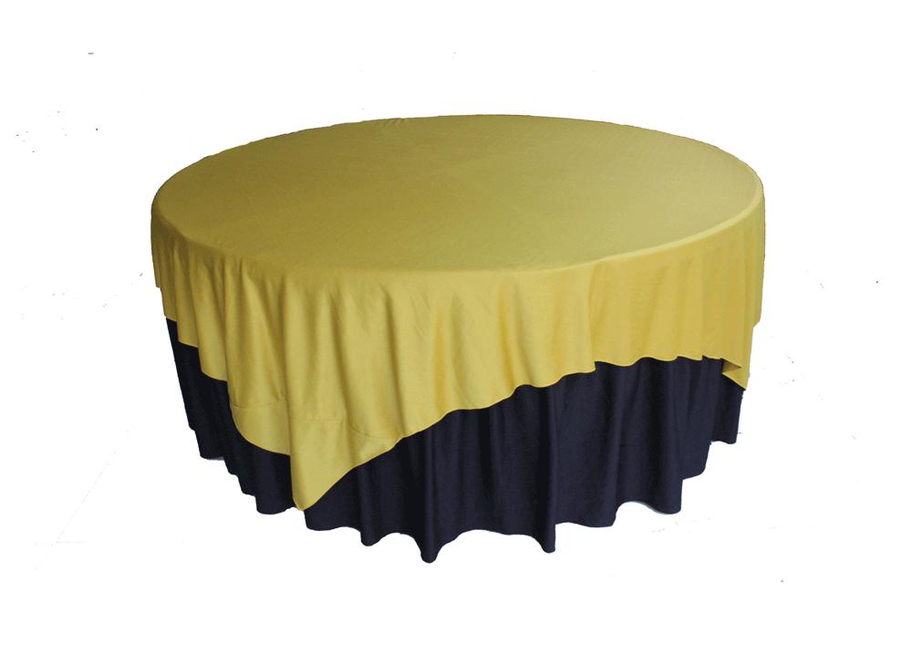meja prasmanan cover hitam kuning