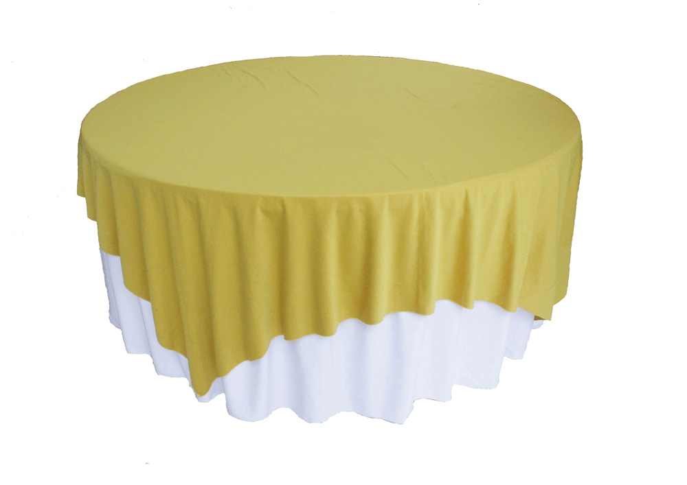 meja prasmanan cover putih kuning