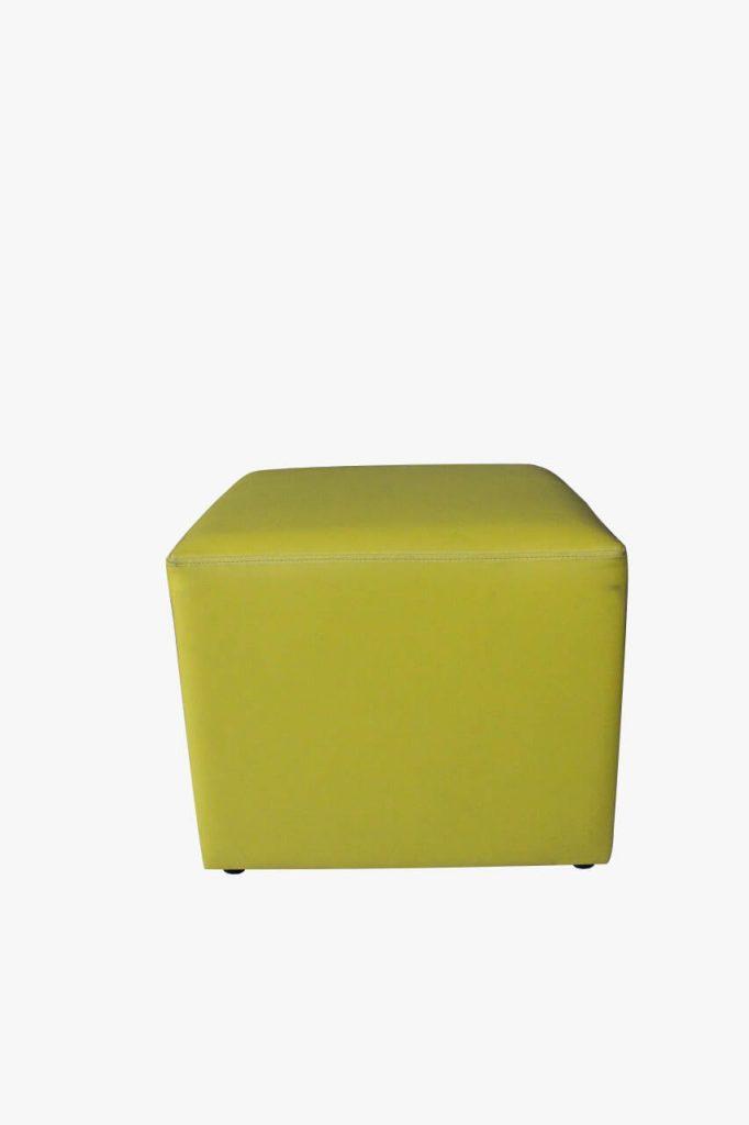 sofa puff hijau peach