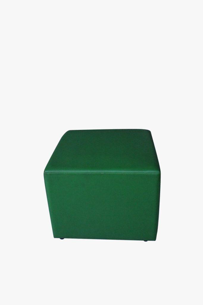 sofa puff hijau tua