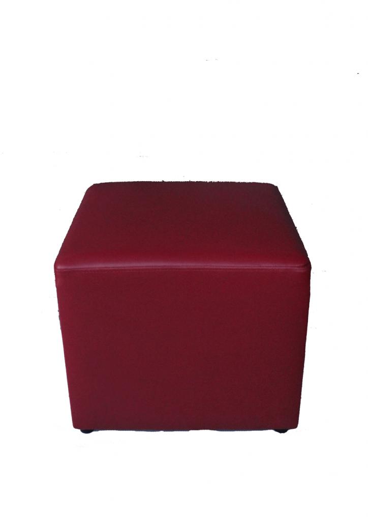sofa puff merah maroon