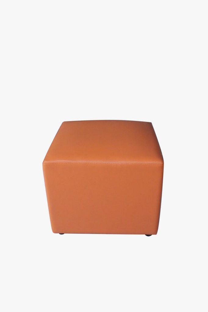 sofa puff orange
