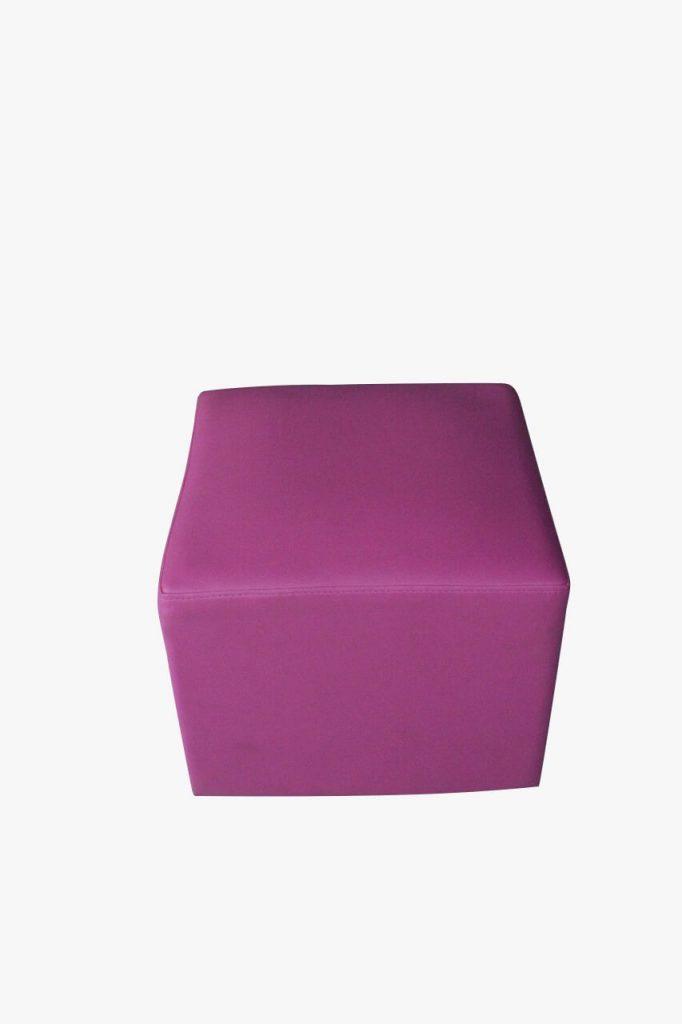 sofa puff pink