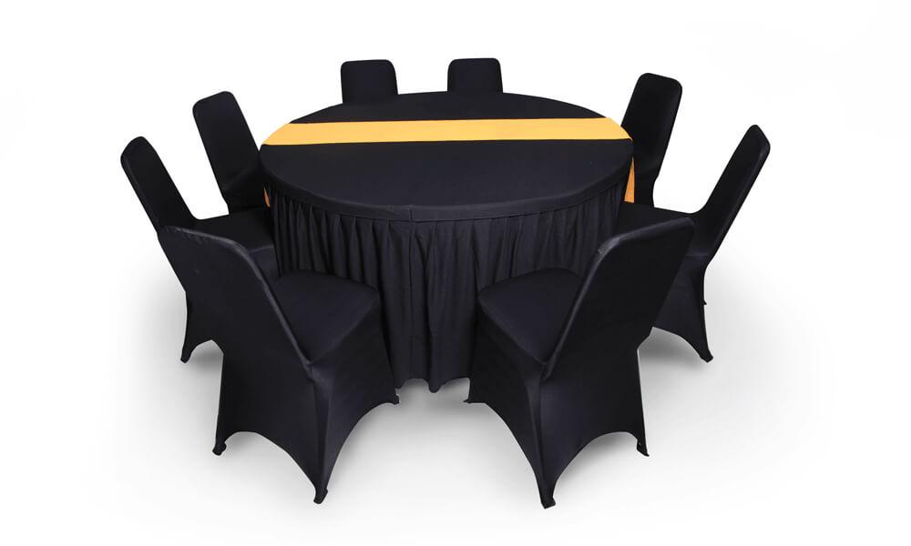 sewa meja bundar